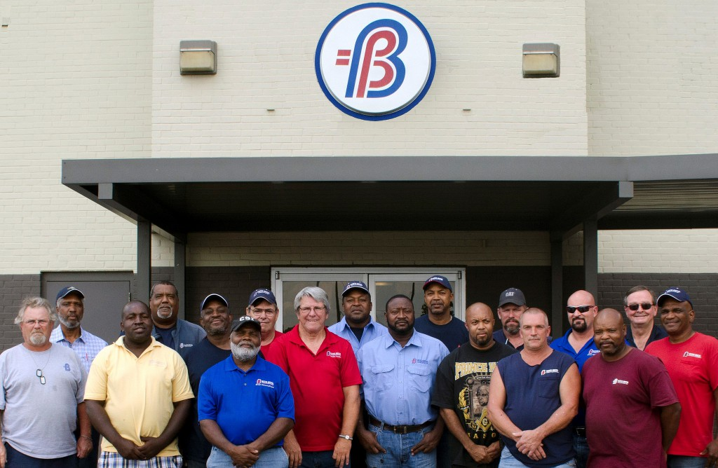 Boyd Transportation honors 18 of its more than 100 professional drivers who have accumulated more than 1 million consecutive safe miles while driving for Boyd. Front Row (L-R): Keith Reese, Lendell Shelby, Forrest Patton, Mike Usery, Jerome Morrison, Vinson Jones, Gary Noworyta, Hullon Tyus, and Makie Clark. Back Row (L-R): Melvin Smith, Ike Hamilton, Henry Cobb, Steve Falk, James Spann, Reginald Gaines, Dan Heister, Ken Parkhurst, and Wayne Loesch.