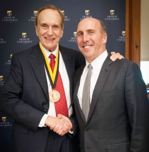 DePauw-University-President-Brian-Casey-congratulates-Don-Daseke