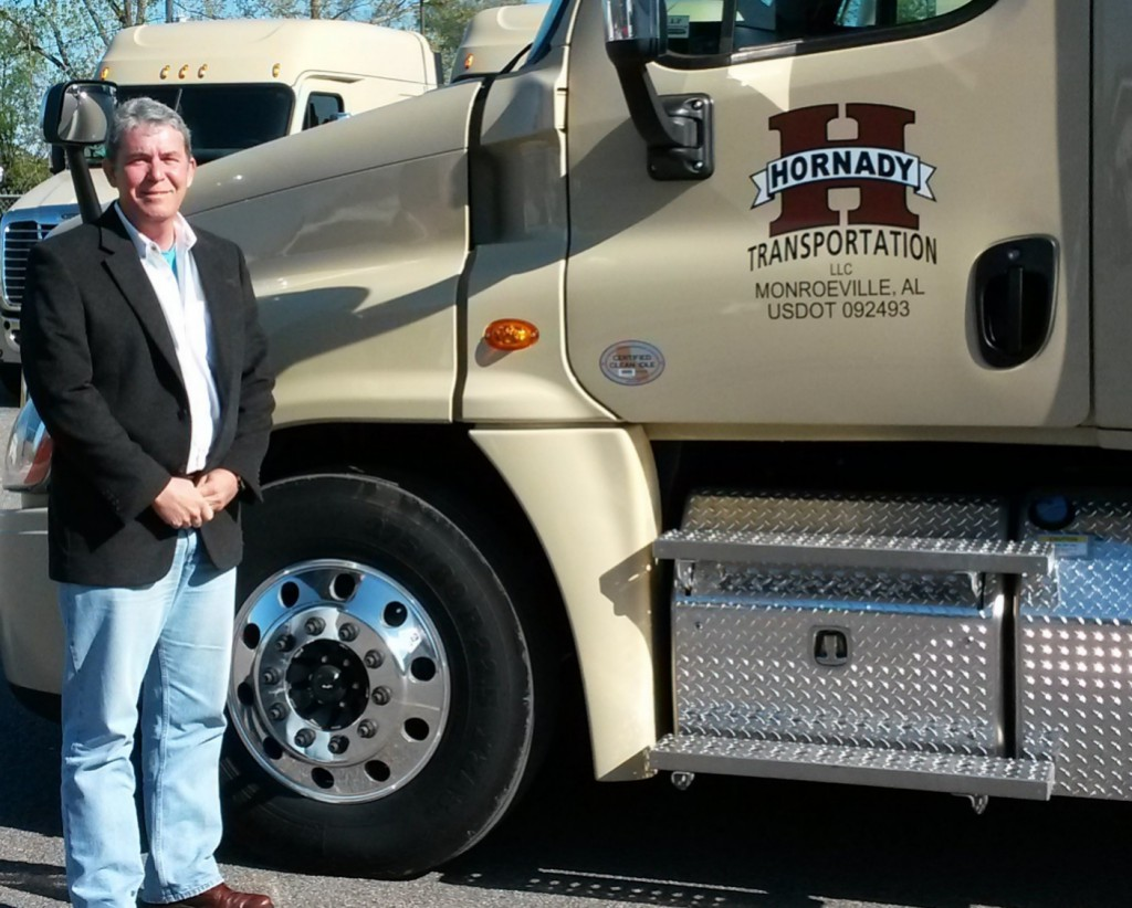 Hornady Transportation is led by company president Chris Hornady. Hornady Transportation was founded by Chris's grandfather, G.E. Hornady, in 1928, and later led by his father, B.C. Hornady.