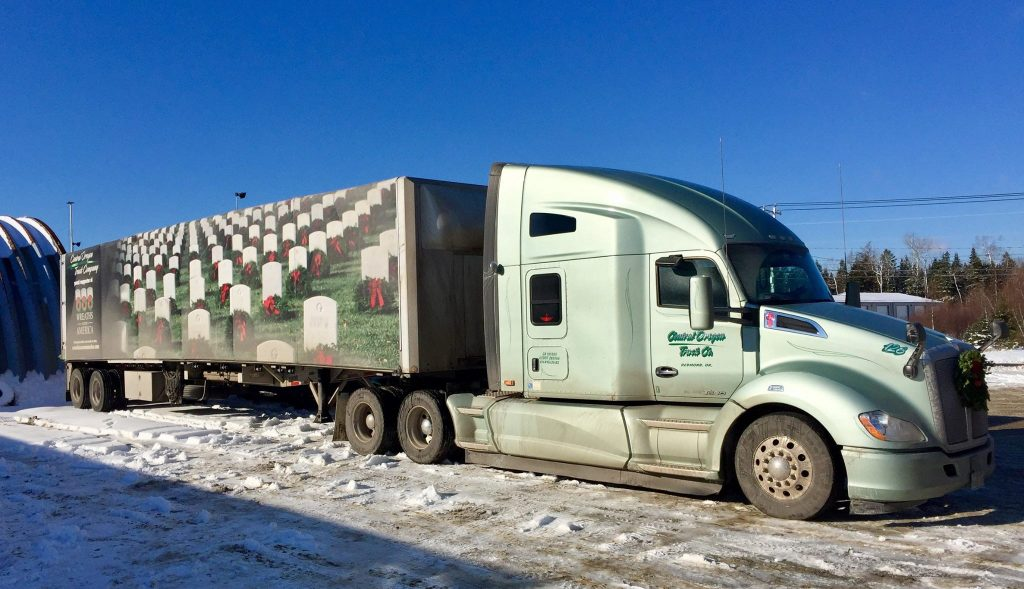 This Central Oregon Truck Company truck was decorated for Wreaths Across America.
