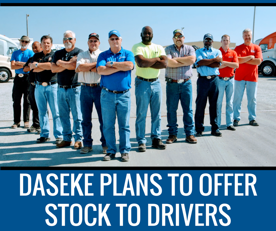 DASEKE PLANS TO OFFER STOCK TO DRIVERS