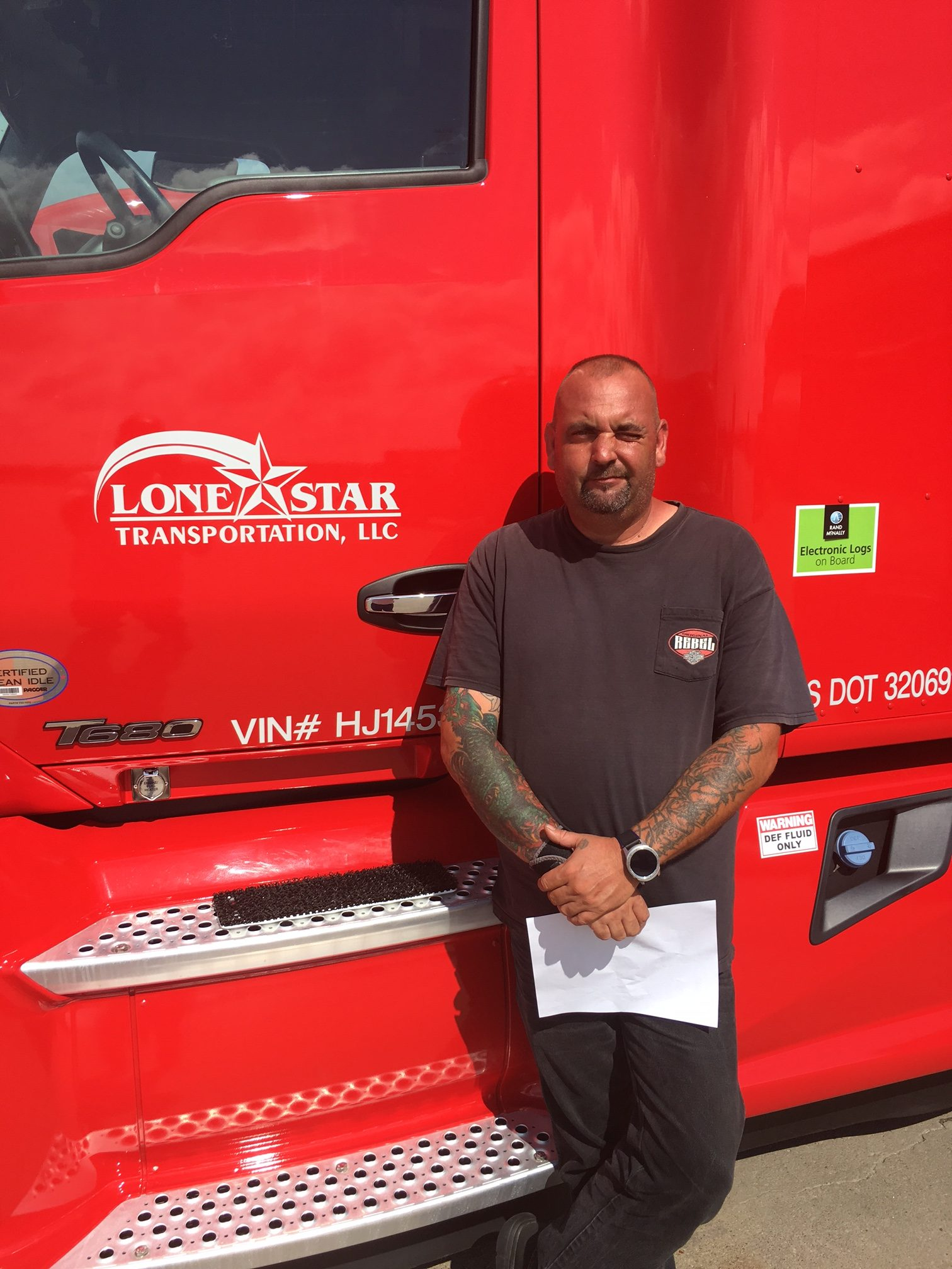 Vince Piazza, who drives for Lone Star Transportation in Fort Worth, owned by Daseke Inc., is among the new Daseke trucker shareholders thanks to the Addison company's stock giveaway. (Daseke Inc.)