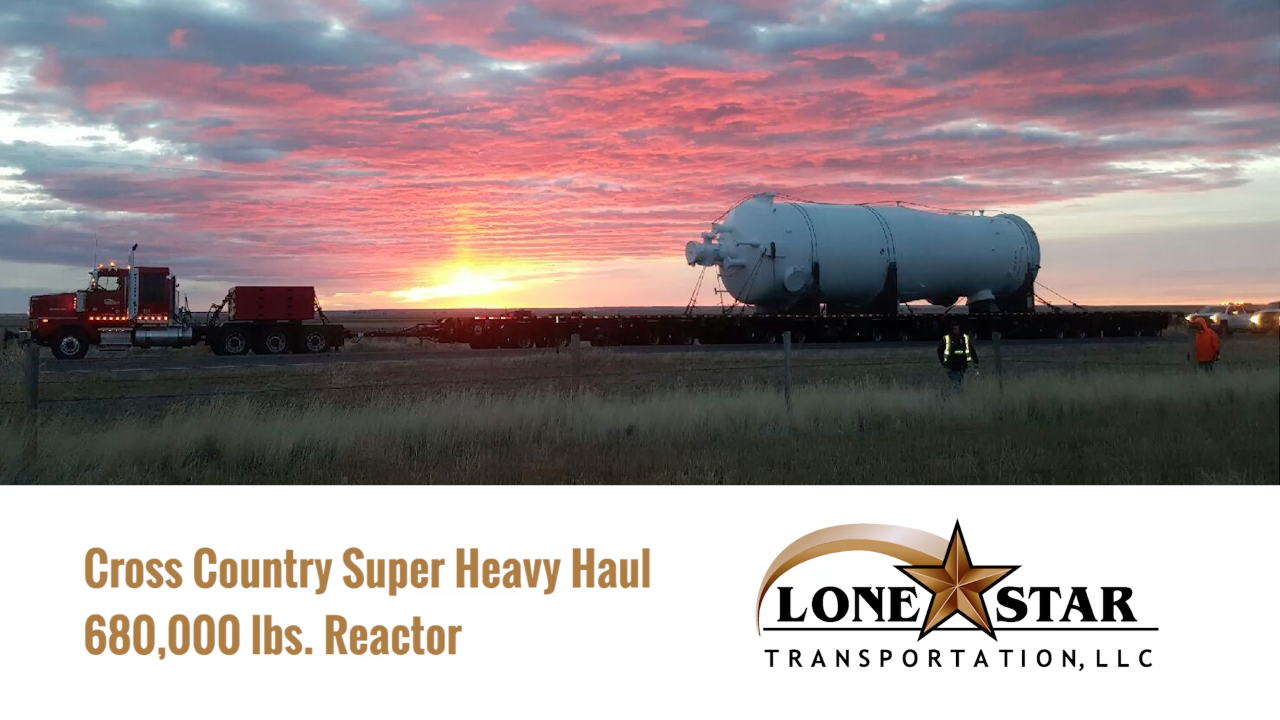Lone Star Transportation - 680K LB Load Moved 1695 Miles!