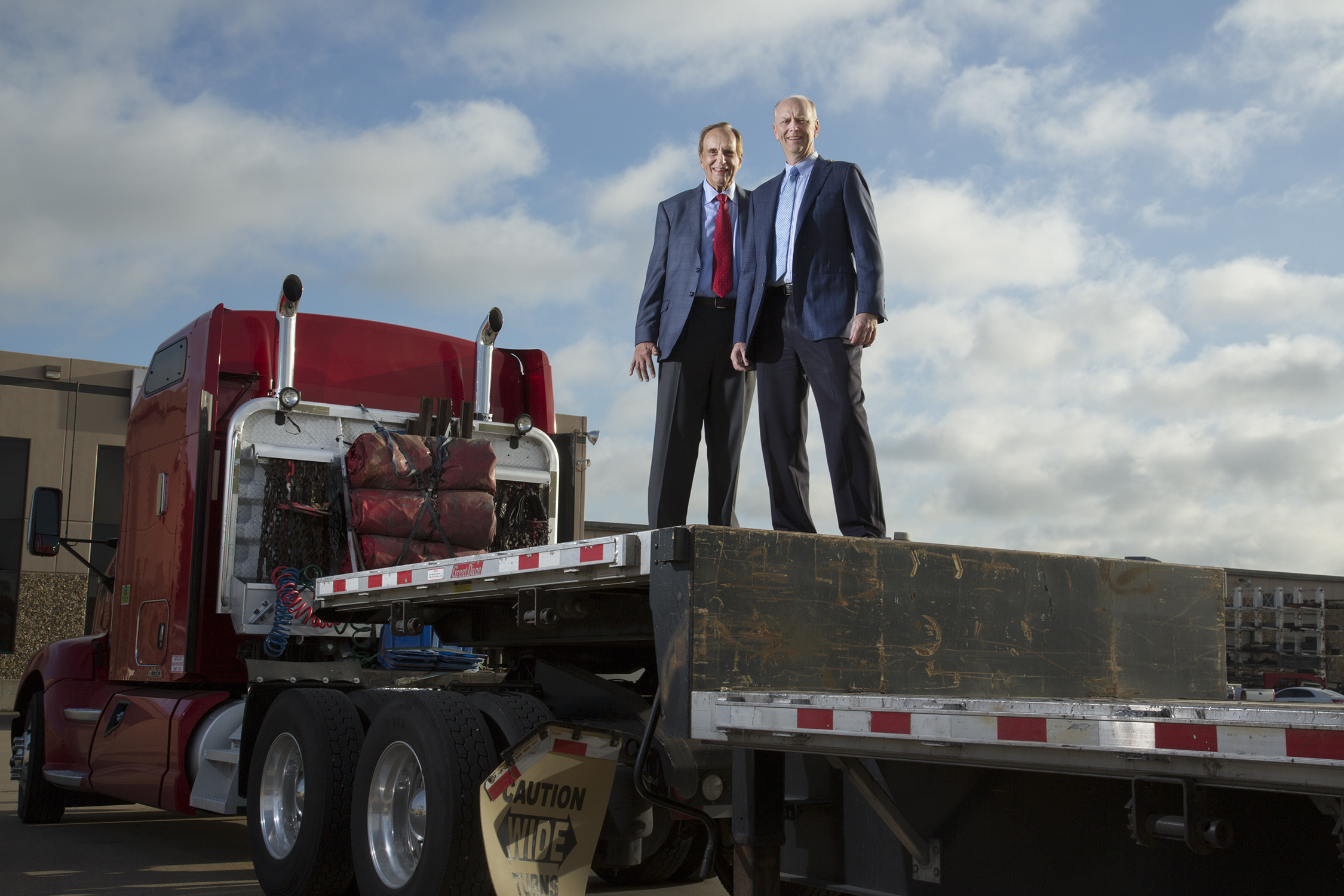 Don and Scott on Flatbed
