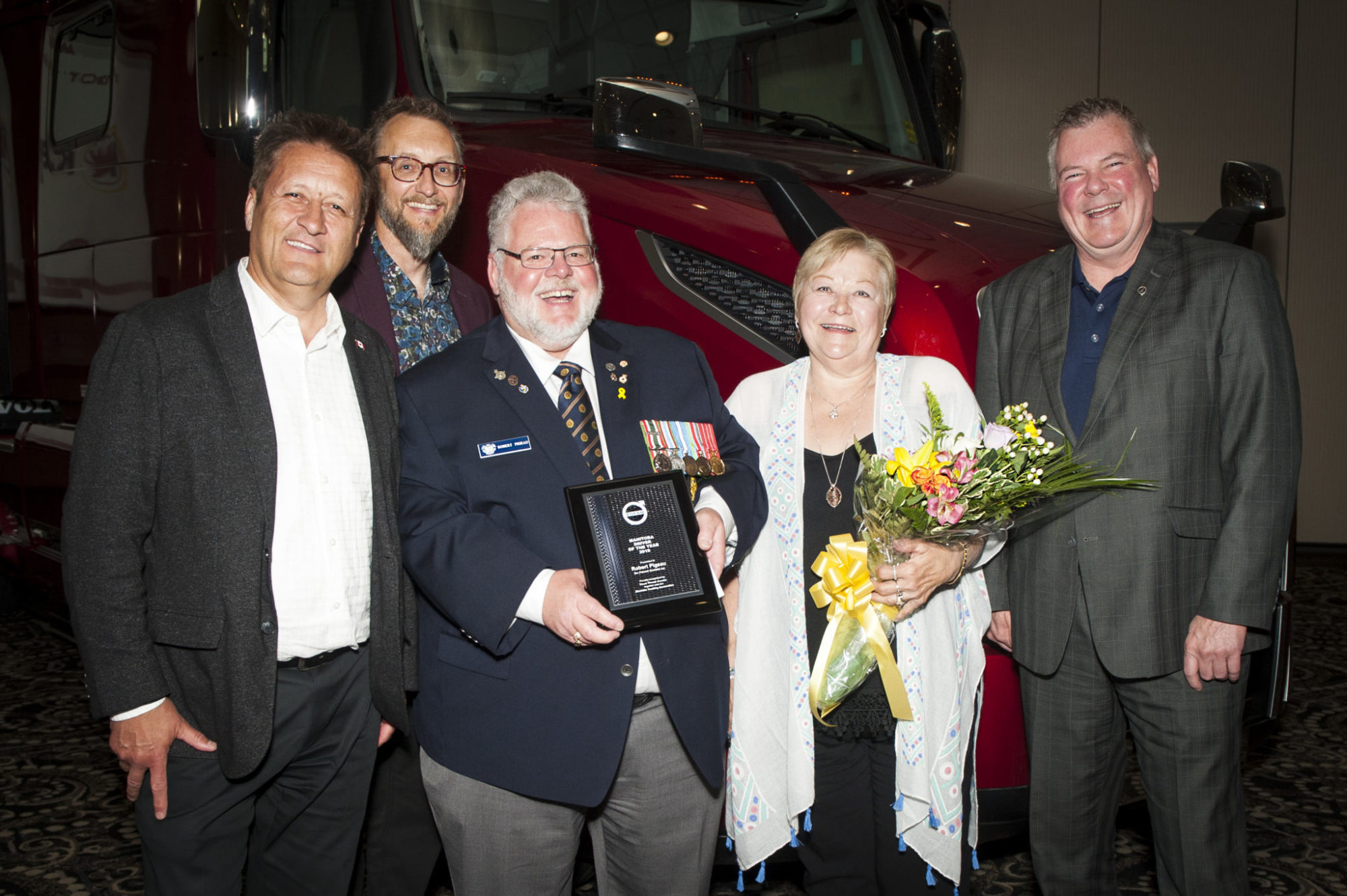 Robert Pigeau has been honored with the 2019 MTA-Volvo Trucks Canada Manitoba Driver of the Year.